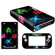 Linyuan Skin Sticker Decal Cover Case 0114# para Nintend WII U Console And Controller