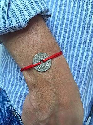 Bracelet Sou Français sur cordon - Pièce Française sur cordon