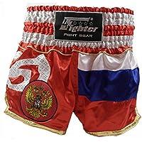 4Fighter Shorts Muay Thai National Russia nel disegno della bandiera nazionale, Talla:L