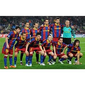 Customized Barcelona FC Football club Poster 22inch x 14inch By Silk Printing | KK-E-DFAD Seide Plakat