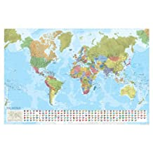 Marco Polo Laminated World Wall Map (Marco Polo Maps)