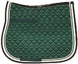 USG Baumwollschabracke, grün/ecru/braun, DR, Warmblut
