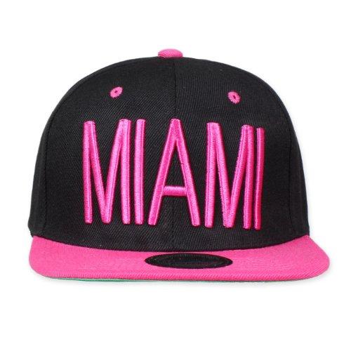 Imagen de original snapback   de béisbol  para hombre miami schwarz/pink talla única