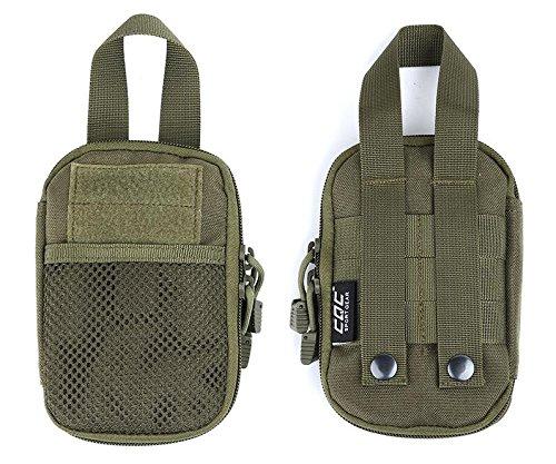 Gaodear Tactical marsupio Edc Compact Pocket organizer Pouch mini marsupio sacchetto sport all' aperto il cellulare, chiavi, Utility gadget sicurezza confezione, Brown Green