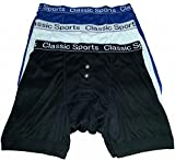 NEW: Mens Designer Classic Sport Matching Band Button Fly Boxer Shorts - All Sizes - EXPRESS DELIVERY AVAILABLE ON ALL HOSIERY DIRECT UK PRODUCTS