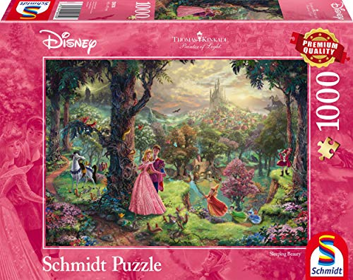 Schmidt Spiele 59474 Thomas Kinkade 59474-Thomas, Disney Dornröschen, Puzzle, 1000 Teile, bunt