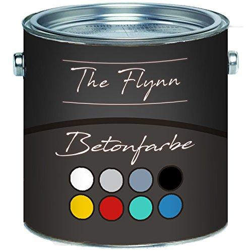 The Flynn Betonfarbe hochwertige Bodenfarbe FassadenfarbeHoch-elastische Kunststoffbeschichtunghervorragen ohne Grundierung auf Boden und Wand aus Beton, Putz, Zement, Mauerwerk und Stein