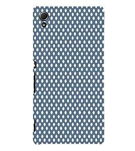 Dark Blue Royal Dots 3D Hard Polycarbonate Designer Back Case Cover for Sony Xperia Z4 :: Sony Xperia Z4 E6553