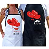 Best Gifts For Newlyweds - AerWo Mr. and Mrs. Aprons Couple Aprons Review