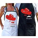 AerWo Mr. und Mrs. Kochen Schürzen Schürzen mit Geschenkbeutel Lustige Schürzen-Set für Newlyweds–Geschenk zur Hochzeit Verlobung