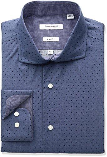 isaac-mizrahi-mens-slim-fit-broadcloth-printed-dot-cut-away-collar-dress-shirt-blue-155-neck-34-35-s