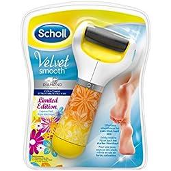 Scholl Velvet Smooth Express Pedi Set de pédicure électrique avec particules de diamant, édition d'été.