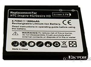 Batterie rechargeable Haute Capacité pour HTC Desire HD (1600mAh 3.7V)