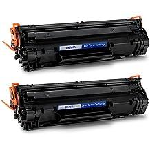 OfficeWorld 85A Toner CE285A Cartuchos de tóner Compatible para HP LaserJet Pro P1102 P1102W P1100 M1132 M1210 M1212nf M1214nfh M1217nfw M1218nf M1219nf Canon LBP 6000 6018