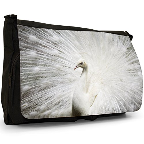 Fancy A Bag Borsa Messenger nero Peacock Peacock White