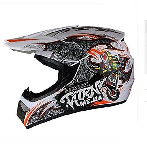 Off Road Motorcycle Helmet, Adult ABS Motorcycle Helmet Off Road Motocross Helmet MTB DH Racing ATV Helmet (B8227 M)