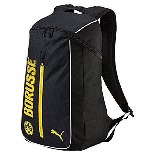 PUMA BVB Fanwear Backpack Rucksack, Cyber Yellow Black, 50 x 35 x 2.5 cm
