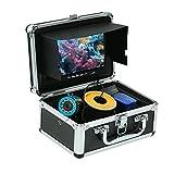 OWSOO Unterwasserkamera Fisch Sucher 7 Zoll LCD-Videomonitor 1000TVL HD 15M Fischen-Kamera Sonnenblende 12pcs Weißes Licht LED 12pcs Infrarot-IR LED, Ohne Videoaufnahme, Ohne 8GB SD-Karte