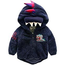 Chaqueta para niños bebé dinosaurios acolchados algodón niños ropa de invierno nuevas niñas suéteres de algodón para niños , 100cm , tibetan blue