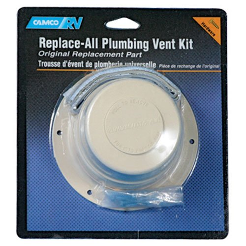 Camco 40033 Replace All Plumbing Vent Kit (Polar White) by -