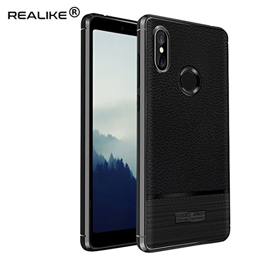REALIKE® Redmi Y2 Back Cover, Branded Case with Ultimate Protection, Flexible Litchi Pattern Back Cover for Redmi Y2-2018 {Limited Time Discounted Price Offer}