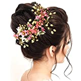 Hair Flare Women Atrificial Flower Made Hair Accessories And Hair Pin- Baby Pink, 2205