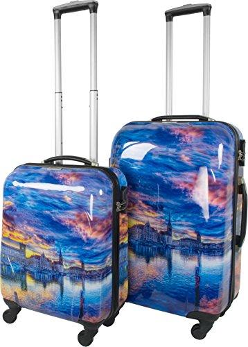 ABS Hartschalen Koffer mit Teleskopgriff und Zahlenschloss Seatown