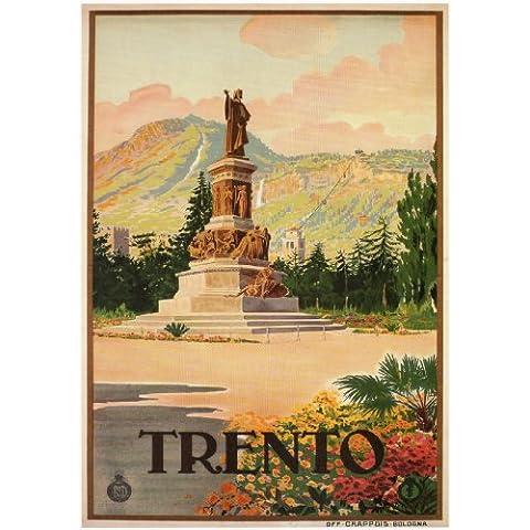 TRENTO Poster di Viaggi Vintage dell'Italia1926 - Italiano - Stampa Vintage A3 Finitura Lucida (420 mm x 297 mm)