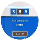 SBS Klett-Schleifgitter für Langhalsschleifer Ø225 mm Korn wählbar 25 Stück - Korn 120