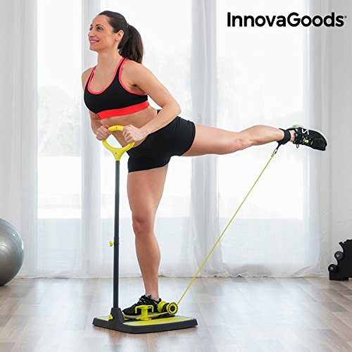 InnovaGoods ig117209Plateforme de Fitness, Unisexe Adulte, Noir/Jaune, Taille Uniqu