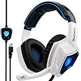 SADES Headset Spirit Wolf 7.1 Computer Headphone Gaming Headset Surround Stereo Sound USB