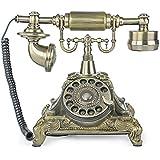 Bronze MS-5501A Retro Vintage Antique Style Rotary Dial Desk Telephone Phone home Living Room Decor
