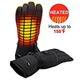 Svpro Electric Gants Chauffants Thinsulate Insulation Hand Warmer, Windproof Batterie Chauffée Randonnée Gants Escalade Ski Snowboard.