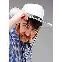Cappello da cowboy in feltro bianco occidentale da uomo e02cf81557d1