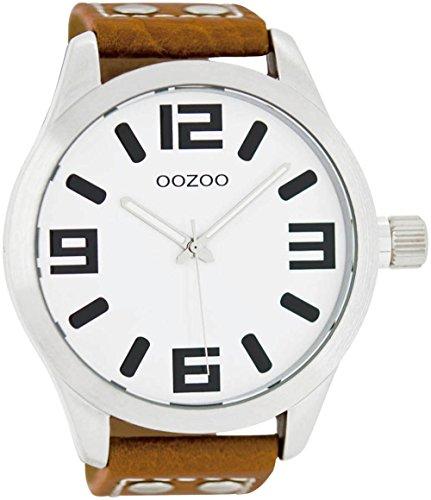 Oozoo C1001C5502-Uhr für Männer, Lederband