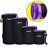 MENGS® S/M/L/XL Flocking aus Wasserdicht Neopren Objektivtasche Tasche mit Gürtelschlaufe und Haken für DSLR oder Digital Kamera