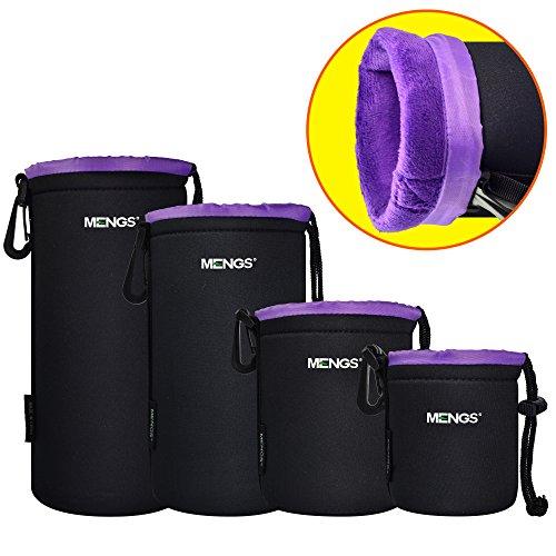 MENGS® S/M/L/XL Flocking aus Wasserdicht Neopren Objektivtasche Tasche mit Gürtelschlaufe und Haken für DSLR oder Digital Kamera Digital-tasche