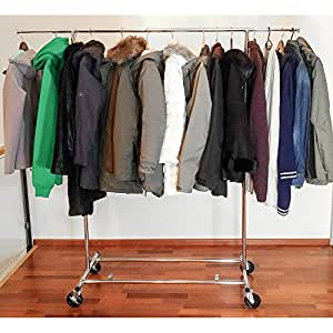 tatkraft drogo robuste 100 kg portant pour v tements sur. Black Bedroom Furniture Sets. Home Design Ideas