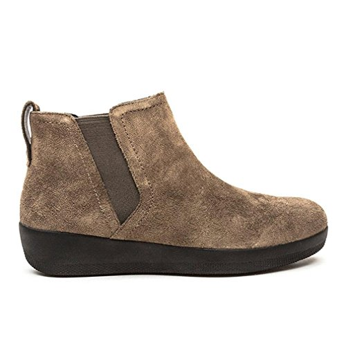 FitFlop Superchelsea Tm Boot, Baskets Hautes Femme Marron