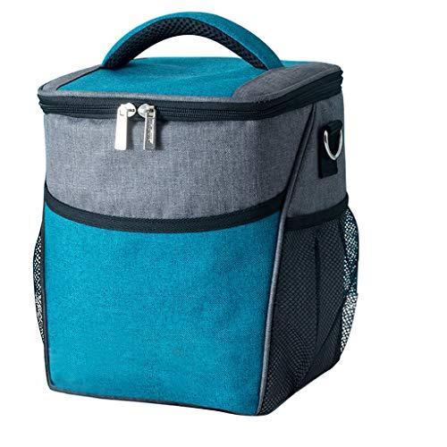 TRB Isolierte Lunchpaket wasserdichte Kühltasche, tragbare Packung Kühltasche Box, Bento-Tasche für Männer und Frauen Kinder Kids für Picknick, Camping, Sportveranstaltungen, 19 × 19 × 25 cm