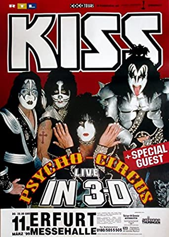 Kiss–1999–Concert–Psycho Circus Tour Poster–Erfurt
