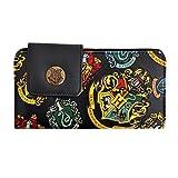 Harry Potter Hogwarts portafoglio nero con le case Crest Portafoglio