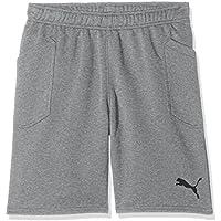 Puma Liga Casuals Shorts Jr Pantalón, Niños, Gris (Medium Gray Heather Black), 128