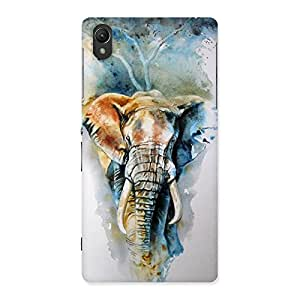 Enticing Elephant Art Back Case Cover for Sony Xperia Z2