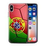 Stuff4 Coque de Coque pour Apple iPhone XS/Portugal Design/Nations de Football...