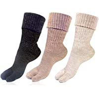 Womens Woolen Multicolour Pack of 3 Pairs Thumb Socks by Bonjour_BROGWL-17A-PO3