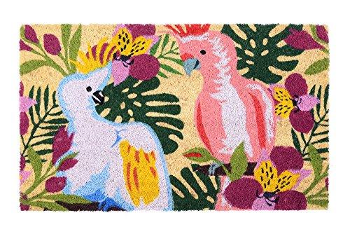 Gift Company 50255 Fußmatte/Fußabtreter/Kokosmatte - Birds/Vögel - Bunt Natur/Bunt 45 x 75 cm