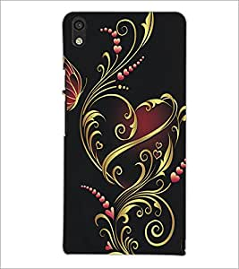 PrintDhaba Floral Design D-5314 Back Case Cover for HUAWEI ASCEND P6 (Multi-Coloured)