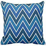 Navy Blue Ombr Chevron Zigzag Stripes Pillow case 1818