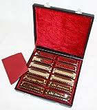 Swan Blues Mundharmonika Set, 12 verschiedene mit Koffer